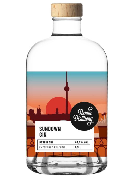 Sundown Gin von Berlin Distillery 500ml